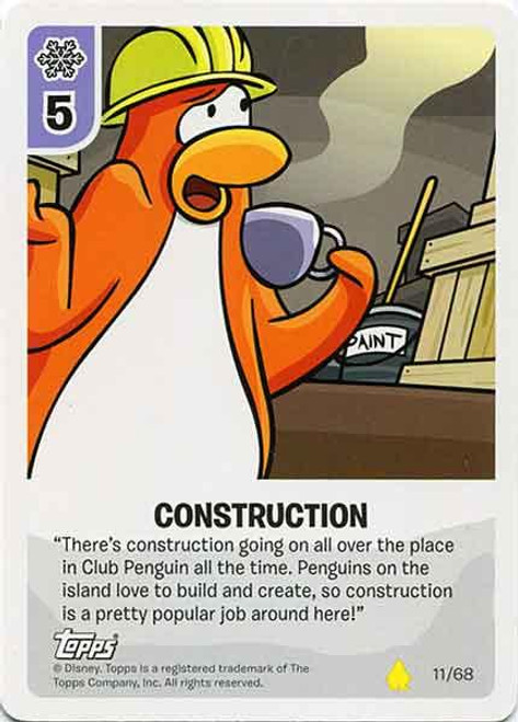 Club Penguin Card-Jitsu Basic Series 2 Common Construction #11