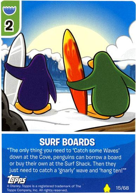 Club Penguin Card-Jitsu Basic Series 2 Common Surf Boards #15