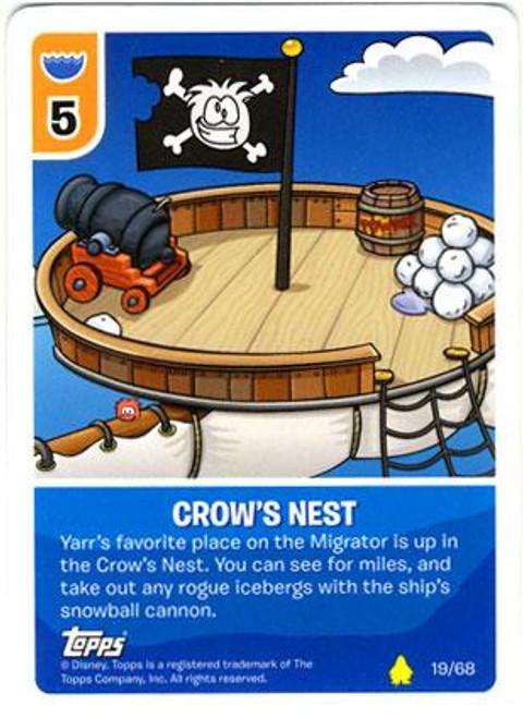 Club Penguin Card-Jitsu Basic Series 2 Common Crows Nest #19