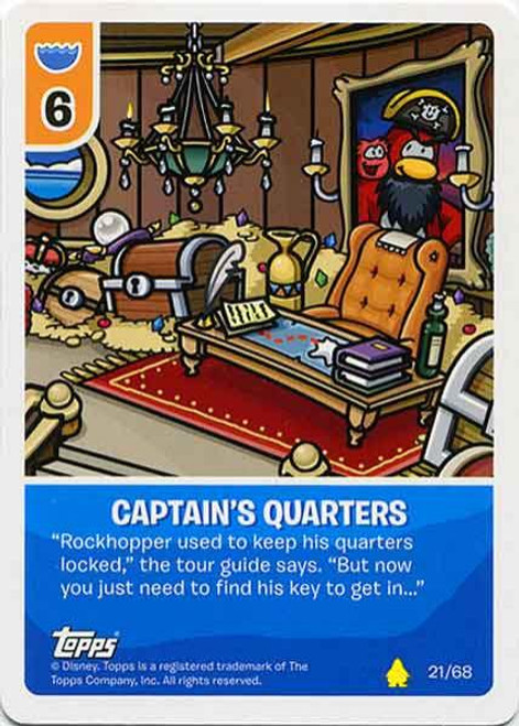 Club Penguin Card-Jitsu Basic Series 2 Common Captain's Quarters #21