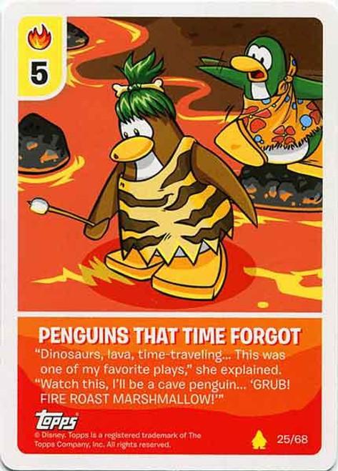 Club Penguin Card-Jitsu Basic Series 2 Common Penguins That Time Forgot #25