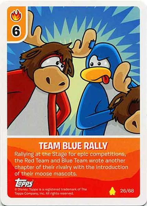 Club Penguin Card-Jitsu Basic Series 2 Common Team Blue Rally #26
