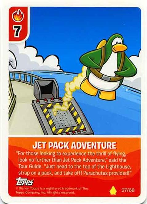 Club Penguin Card-Jitsu Basic Series 2 Common Jet Pack Adventure #27