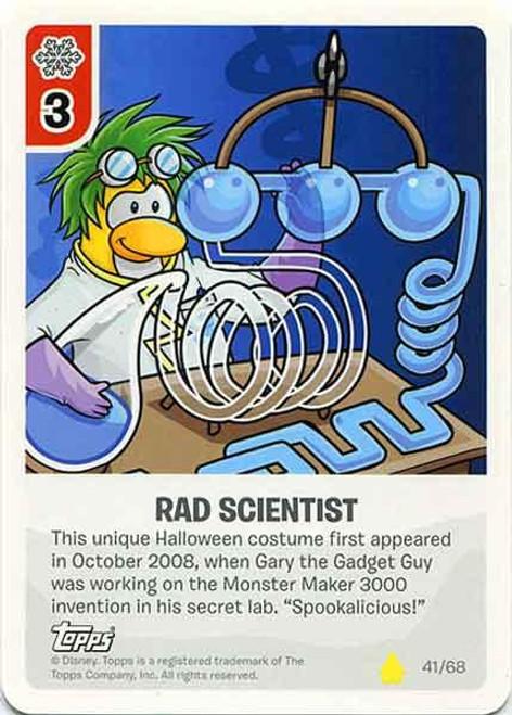 Club Penguin Card-Jitsu Basic Series 2 Common Rad Scientist #41