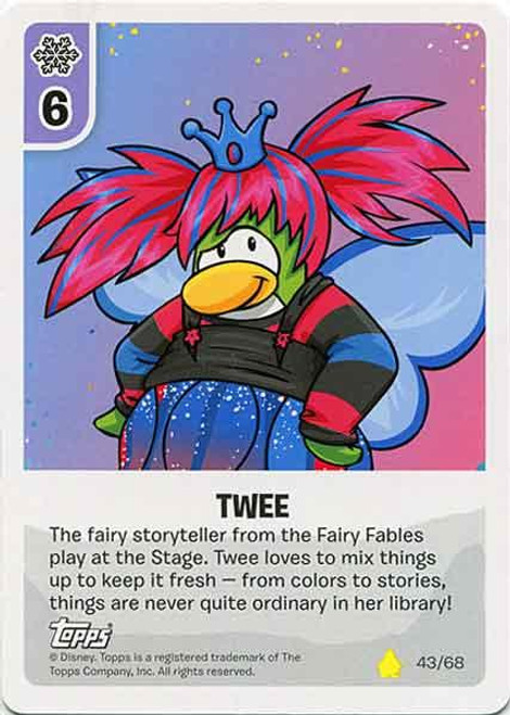 Club Penguin Card-Jitsu Basic Series 2 Common Twee #43