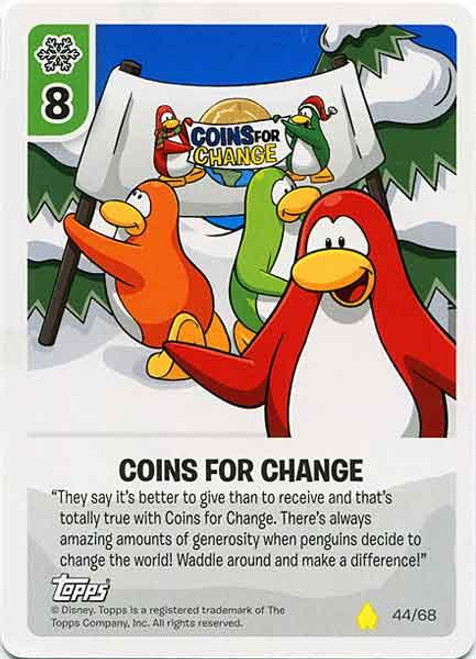 Club Penguin Card-Jitsu Basic Series 2 Common Coins For Change #44
