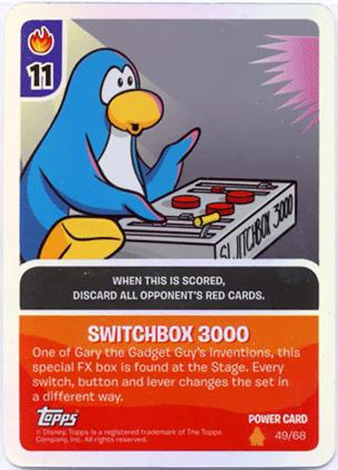 Club Penguin Card-Jitsu Fire Series 3 Foil Power Card Switchbox 3000 #49