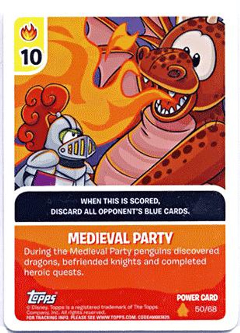 Club Penguin Card-Jitsu Fire Series 3 Foil Power Card Medieval Party #50