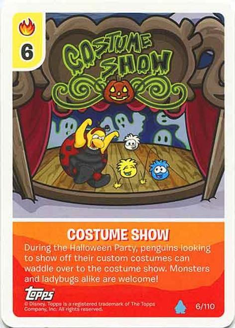 Club Penguin Card-Jitsu Water Series 4 Common Costume Show #6