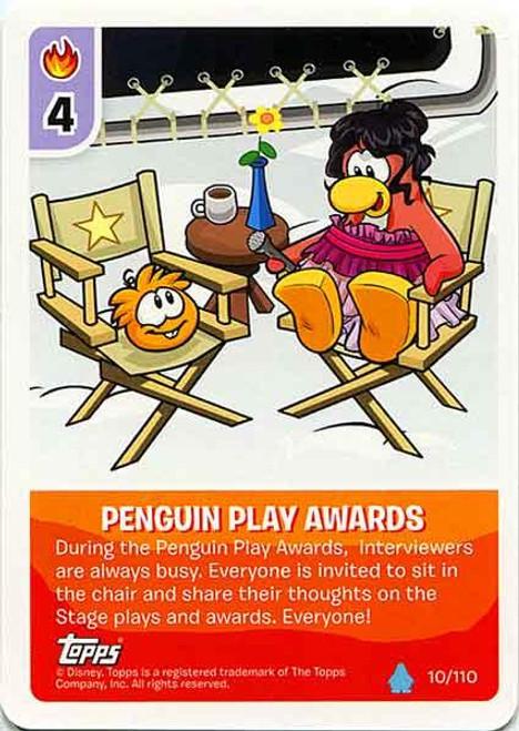 Club Penguin Card-Jitsu Water Series 4 Common Penguin Play Awards #10