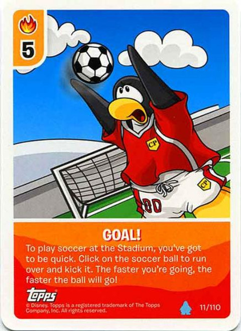 Club Penguin Card-Jitsu Water Series 4 Common Goal! #11