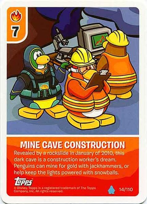 Club Penguin Card-Jitsu Water Series 4 Common Mine Cave Construction #14