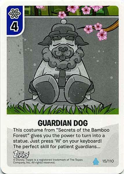 Club Penguin Card-Jitsu Water Series 4 Common Guardian Dog #15
