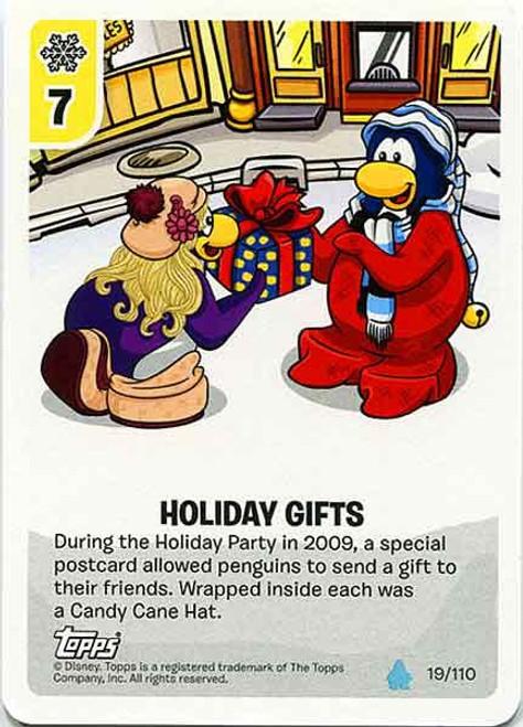 Club Penguin Card-Jitsu Water Series 4 Common Holiday Gifts #19