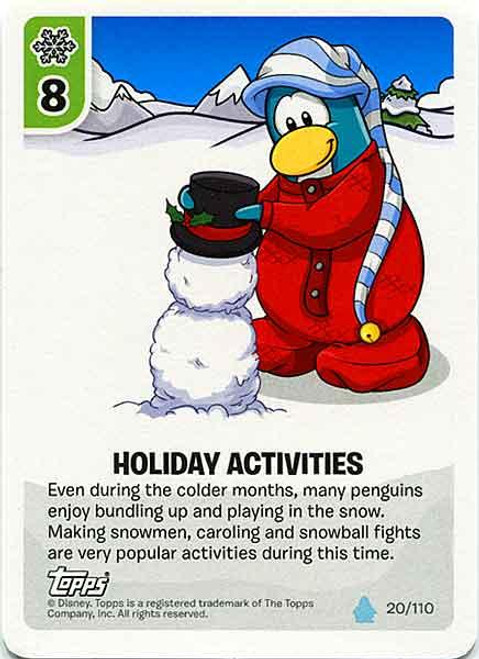 Club Penguin Card-Jitsu Water Series 4 Common Holiday Activities #20