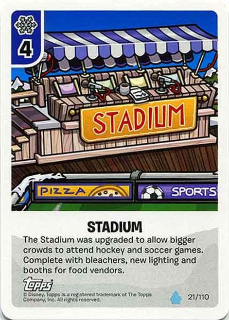 Club Penguin Card-Jitsu Water Series 4 Common Stadium #21