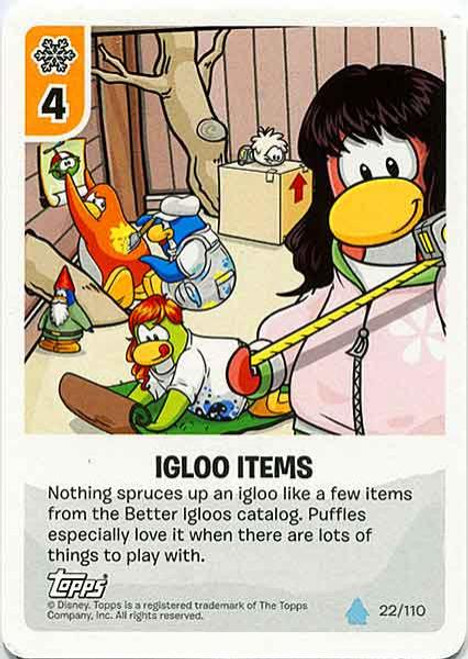 Club Penguin Card-Jitsu Water Series 4 Common Igloo Items #22