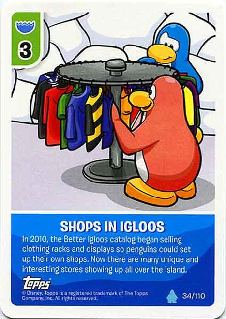 Club Penguin Card-Jitsu Water Series 4 Common Shops In Igloos #34