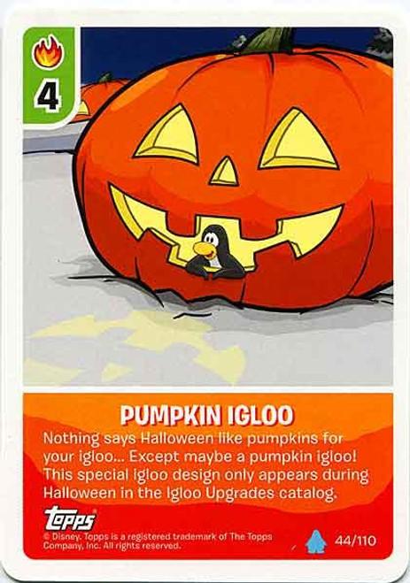 Club Penguin Card-Jitsu Water Series 4 Common Pumpkin Igloo #44