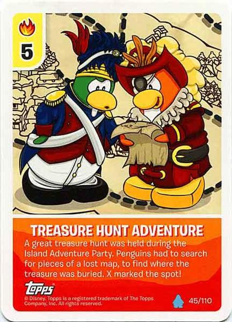 Club Penguin Card-Jitsu Water Series 4 Common Treasure Hunt Adventure #45