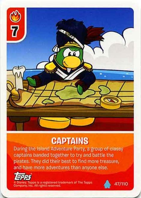 Club Penguin Card-Jitsu Water Series 4 Common Captains #47