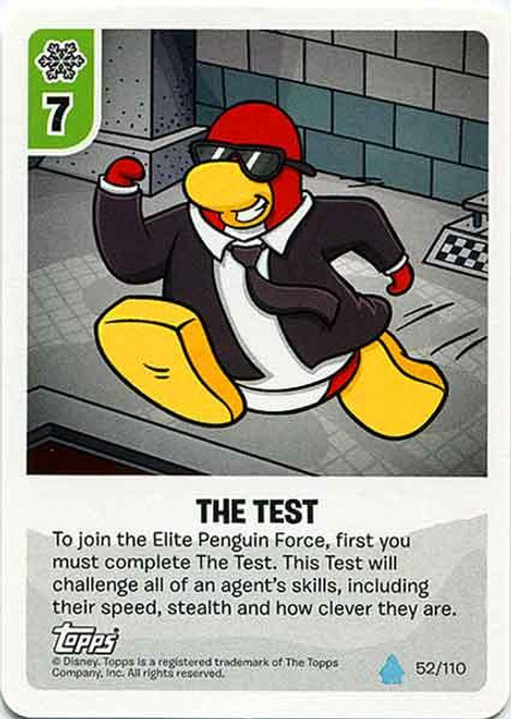 Club Penguin Card-Jitsu Water Series 4 Common The Test #52