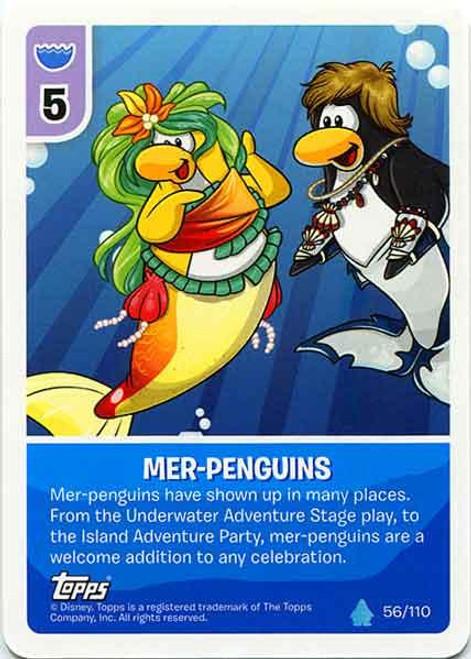 Club Penguin Card-Jitsu Water Series 4 Common Mer-Penguins #56