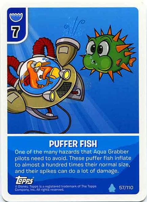 Club Penguin Card-Jitsu Water Series 4 Common Puffer Fish #57