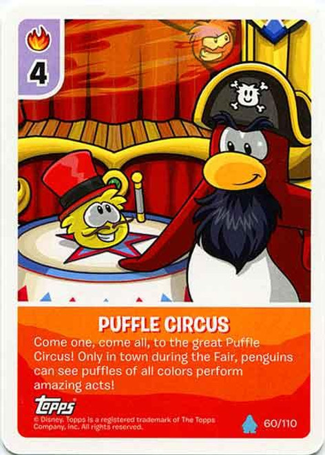 Club Penguin Card-Jitsu Water Series 4 Common Puffle Circus #60