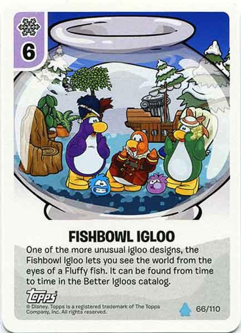 Club Penguin Card-Jitsu Water Series 4 Common Fishbowl Igloo #66