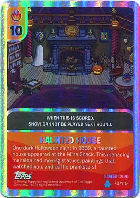 Club Penguin Card-Jitsu Water Series 4 Foil Power Card Haunted House #73