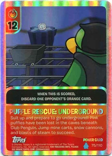 Club Penguin Card-Jitsu Water Series 4 Foil Power Card Puffle Rescue:Underground #75