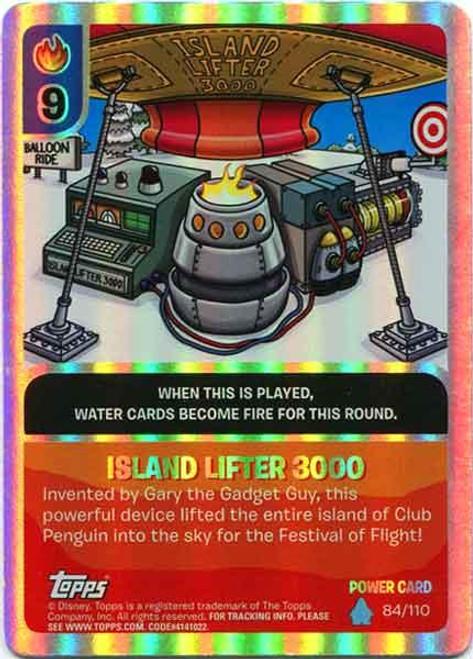 Club Penguin Card-Jitsu Water Series 4 Foil Power Card Island Lifter 3000 #84
