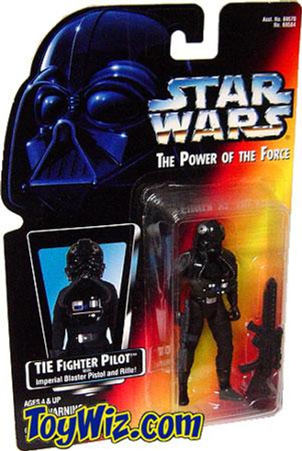 Star Wars A New Hope Power of the Force POTF2 TIE Fighter Pilot Action Figure