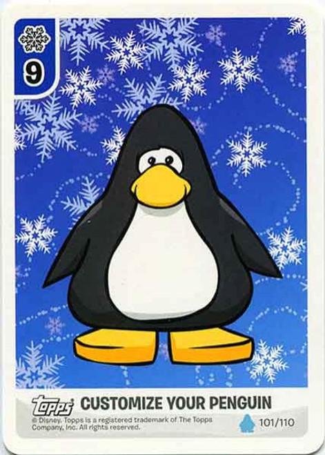 Club Penguin Card-Jitsu Water Series 4 Customize Your Penguin Snowflakes - Black Penguin #101