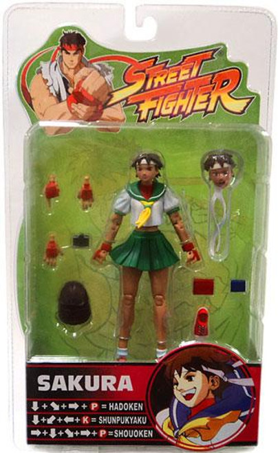 Street Fighter Series 3 Sakura Action Figure [Green Skirt]