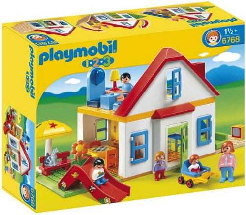 Playmobil 1.2.3 Family House with Slide Set #6768