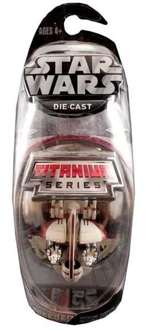 Star Wars The Clone Wars Titanium Series 2007 Swamp Speeder Exclusive Diecast Vehicle [Red Trim]