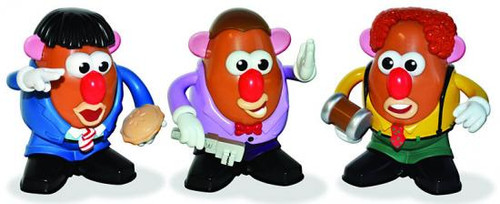 The Three Stooges Three Stooges Collector Set Mr. Potato Heads
