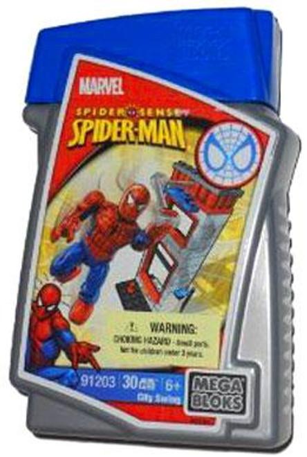 Mega Bloks Spider-Man City Swing Set #91203