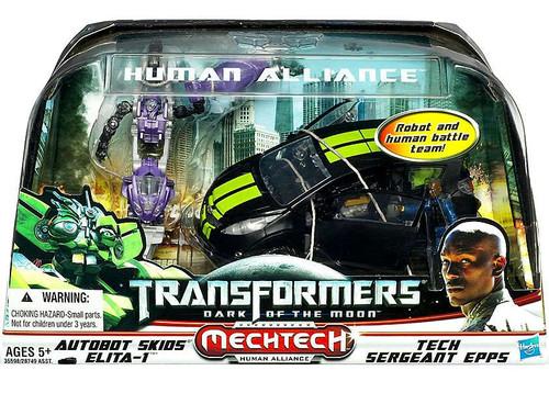 Transformers Dark of the Moon Mechtech Human Alliance Skids & Elita-1 with Sergeant Epps Action Figure Set