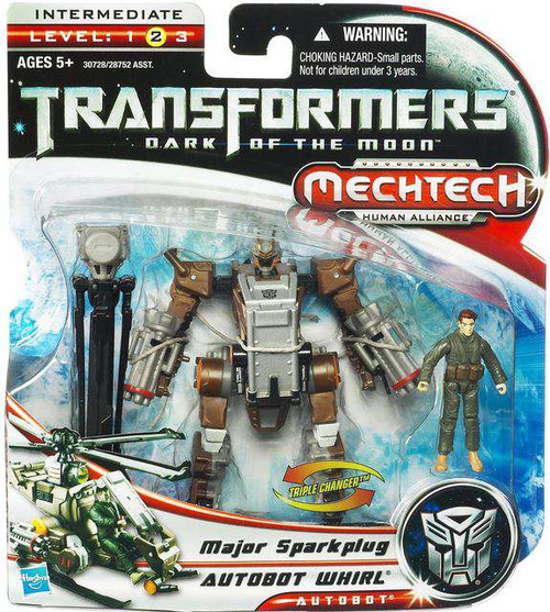 Transformers Dark of the Moon Mechtech Autobot Whirl with Major Sparkplug Action Figure Set