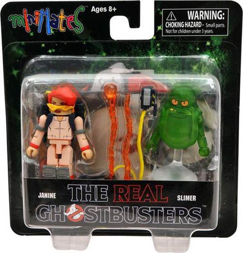 The Real Ghostbusters Minimates Series 1 Janine & Slimer Minifigure 2-Pack