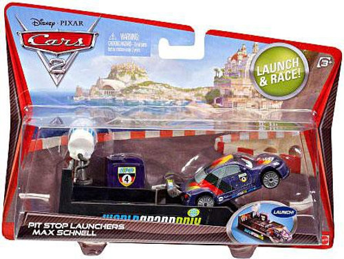 Disney Cars Cars 2 Pit Stop Launchers Max Schnell Diecast Car [With Launcher]