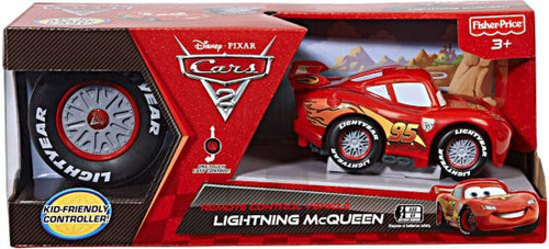 Fisher Price Disney Cars Cars 2 R/C Cars Lightning McQueen Mini Rides 5-Inch Remote Control Car