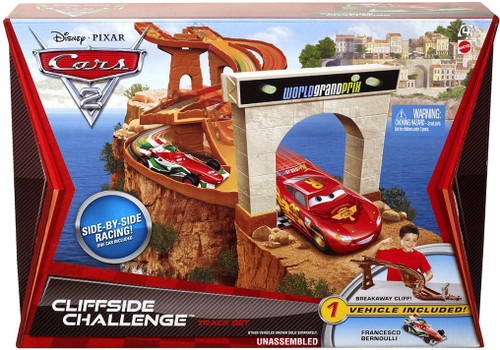 Disney Cars Cars 2 Playsets Cliffside Challenge Diecast Car Track Set
