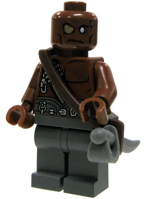 LEGO Pirates of the Caribbean Loose Blackbeard Pirate Minifigure #1 [Bald, Eyepatch Loose]
