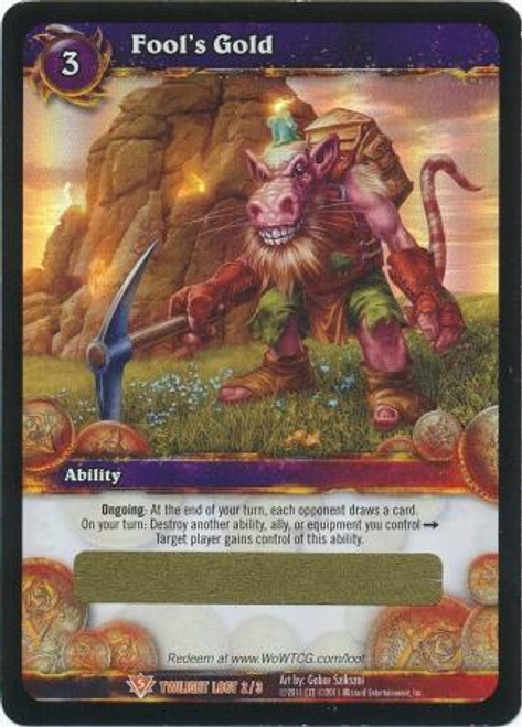 World of Warcraft Trading Card Game Twilight of the Dragon Legendary Loot Fool's Gold #2