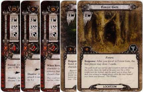 The Lord of the Rings The Card Game Lord of the Rings LCG Passage Through Mirkwood Encounter Set [9 cards]