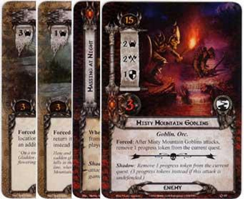The Lord of the Rings The Card Game Lord of the Rings LCG Journey Down the Anduin Encounter Set [9 cards]